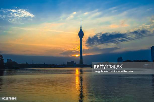 Lotus tower stands out Colombo sky line