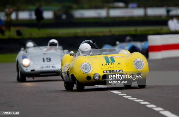 LotusClimax 11 driven by entrant Jason Yates in the Madgwick Cup at Goodwood on September 8th 2017 in Chichester England