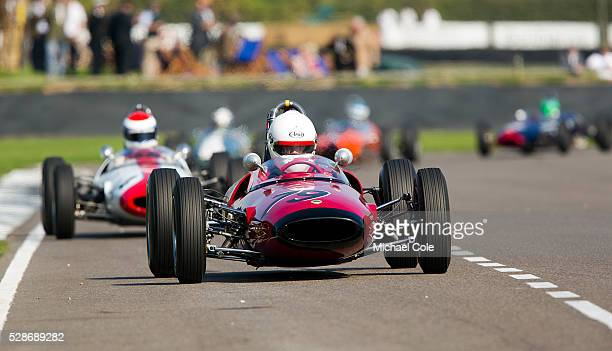 LotusFord 22 driven by Andrew Hibberd at The Goodwood Revival Meeting 12th Sept 2014