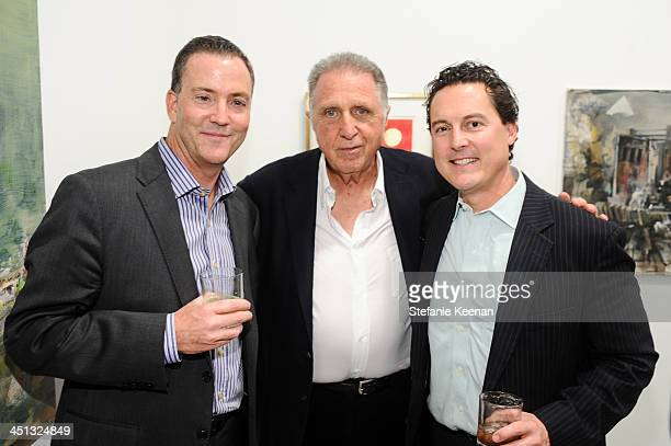 Lou Abel Stanley Hollander and Grant Withers attend The Rema Hort Mann Foundation LA Artist Initiative Benefit Auction on November 21 2013 in Los...