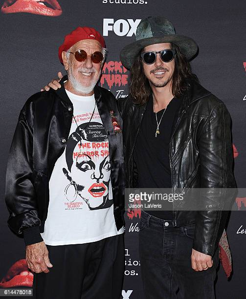 Lou Adler and Cisco Adler attend the premiere of 'The Rocky Horror Picture Show Let's Do The Time Warp Again' at The Roxy Theatre on October 13 2016...