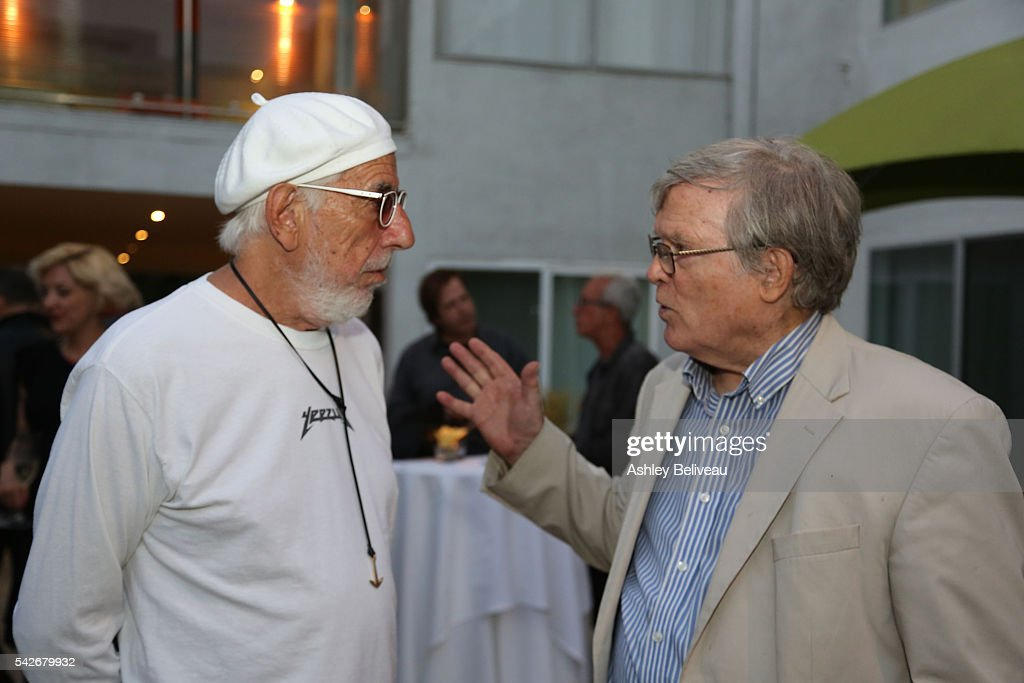 Lou Adler and D.A. Pennebaker attend the celebration for 'Don't Look Back' exhibit at Morrison Hotel Gallery on June 23, 2016 in West Hollywood, California.