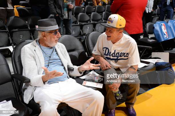 Lou Adler and Flea attend the game between the Los Angeles Lakers and LA Clippers on October 19 2017 at STAPLES Center in Los Angeles California NOTE...