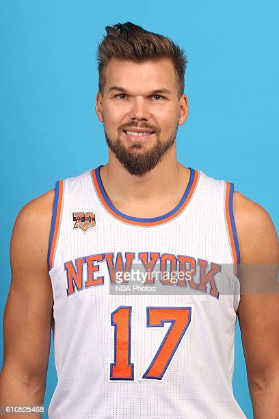 Lou Amundson of the New York Knicks poses for a head shot during media day at the Ritz Carlton in White Plains New York on September 26 2016 NOTE TO...