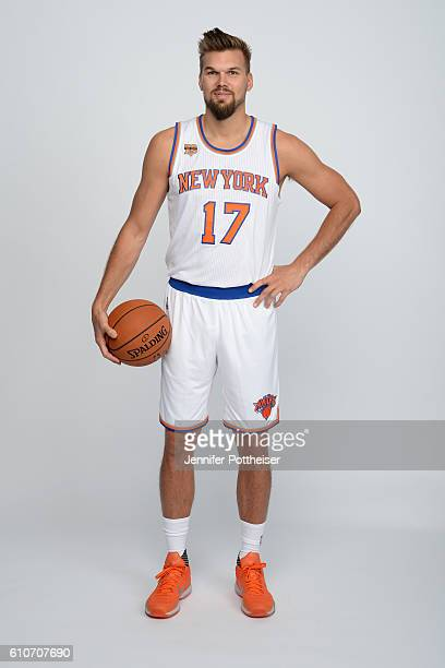 Lou Amundson of the New York Knicks poses for a portrait during media day at the Ritz Carlton in White Plains New York on September 26 2016 NOTE TO...