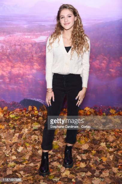 Lou attends Frozen 2 Paris Gala Screening at Cinema Le Grand Rex on November 13 2019 in Paris France