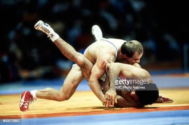 Lou Banach Joseph Atiyeh wrestling at the 1984 Summer Olympics