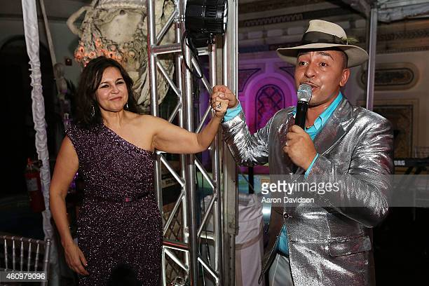 Lou Bega and Irina Agalarova attends New Years Eve And Birthday Party For Irina Agalarova at Barton G on December 31, 2014 in Miami Beach, Florida.