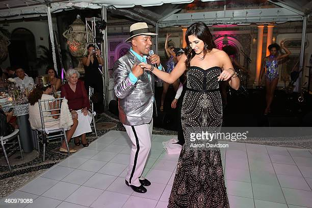 Lou Bega and Sheila Agalarova attends New Years Eve And Birthday Party For Irina Agalarova at Barton G on December 31, 2014 in Miami Beach, Florida.