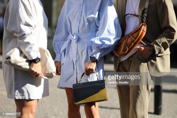 Lou Beyer Erik Scholz and Liberta Haxhikadriu wearing a Skagen Denmark watch on August 07 2019 in Copenhagen Denmark