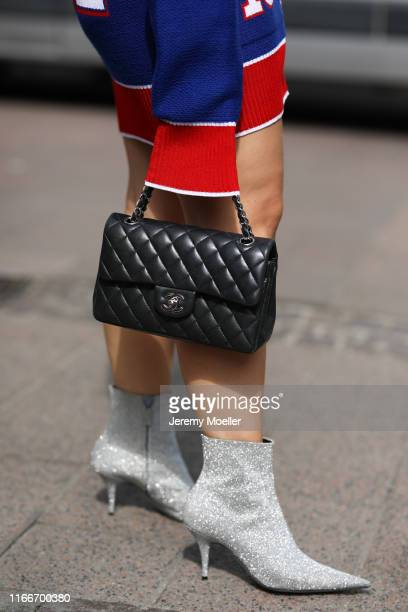 Lou Beyer wearing a Off White dress Balenciaga heels and Chanel bag on August 07 2019 in Copenhagen Denmark