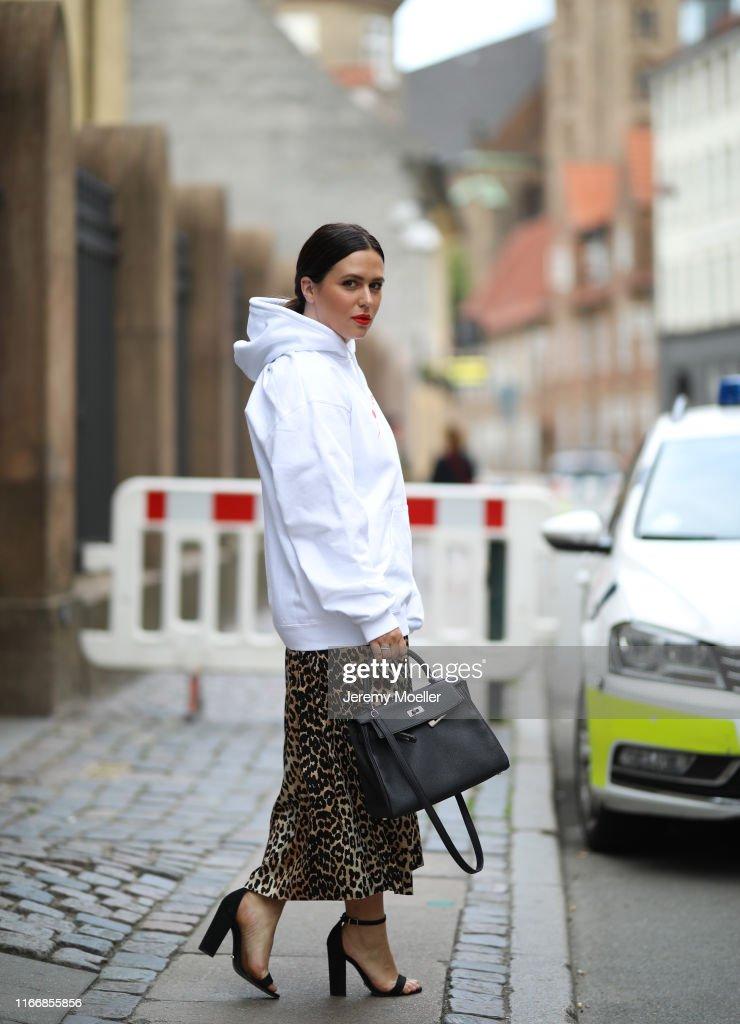 Street Style - Day 1 - Copenhagen Fashion Week Spring/Summer 2020 : News Photo