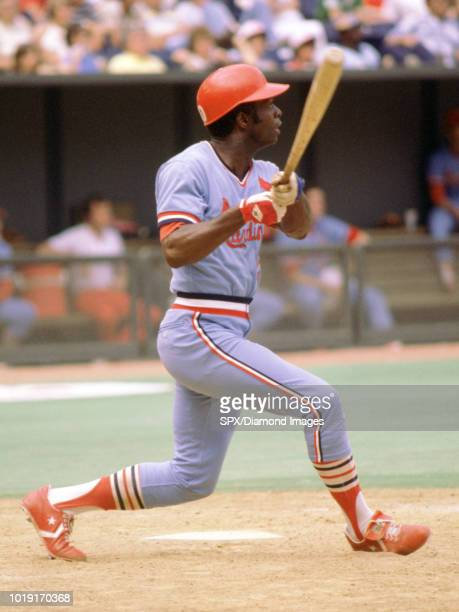 Lou Brock of the St Louis Cardinals at bat during a game from his 1978 season with the St Louis Cardinals Lou Brock played for 19 years for 2 teams...