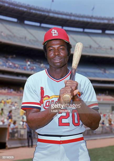 Lou Brock of the St Louis Cardinals poses for a portrait circa 196479