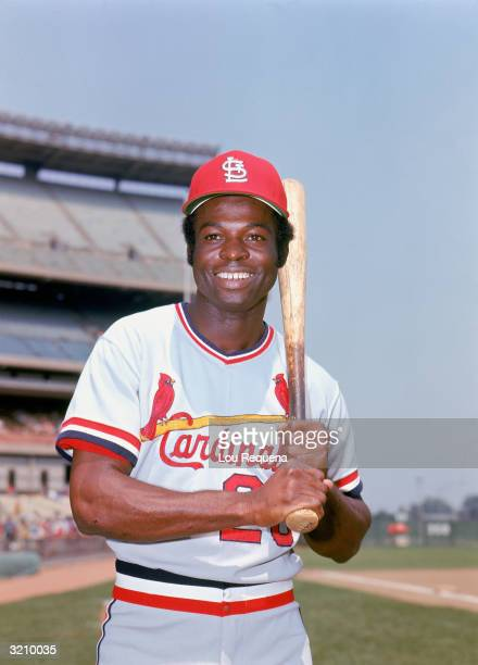 Lou Brock of the St Louis Cardinals poses for a portrait in St Louis Missouri circa 196479