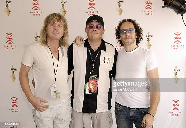 Lou Brutus with Vivian Campbell and Rick Savage of Def Leppard