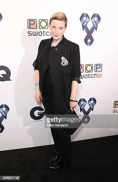 Lou Dalton attends as GQ and One For The Boys with Swatch host the London Collections Men closing night karaoke at Abbey Road Studios on June 13 2016...