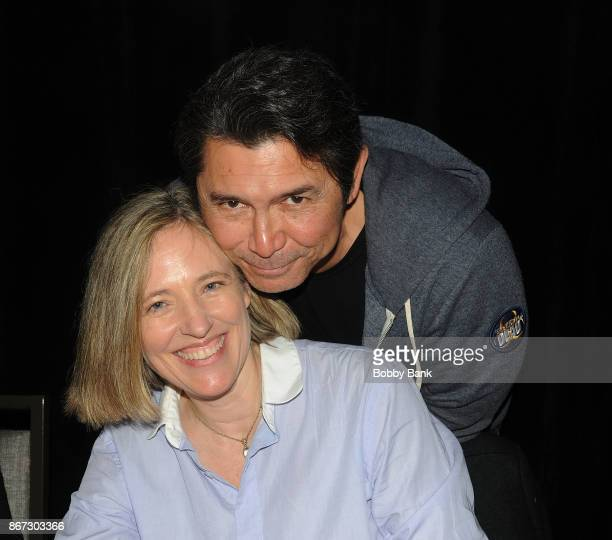 Lou Diamond Phillips and Danielle Von Zerneck from La Bamba attend Chiller Theater Expo Winter 2017 at Parsippany Hilton on October 27 2017 in...