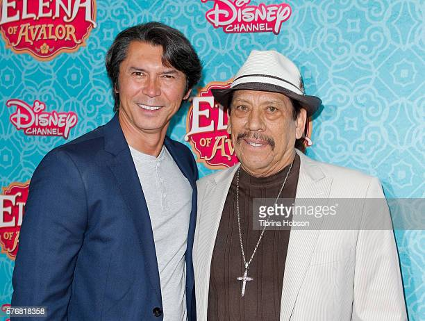 Lou Diamond Phillips and Danny Trejo attend the screening of Disney Channel's 'Elena Of Avalor' at The Paley Center for Media on July 16 2016 in...