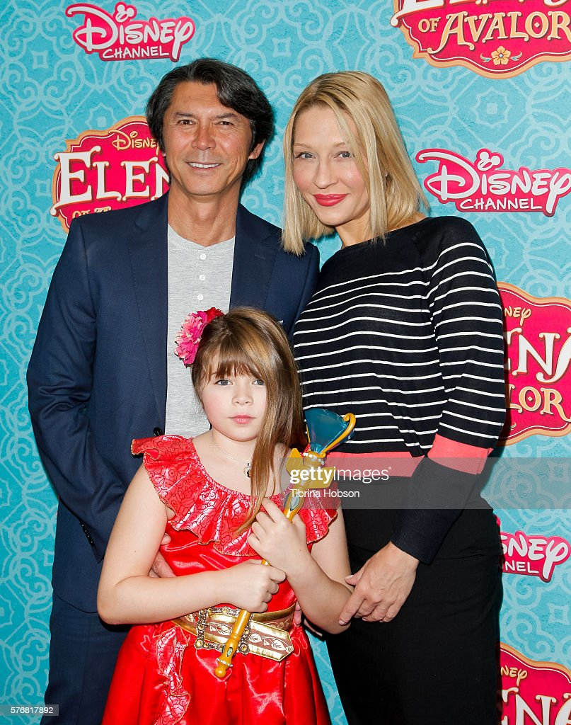 Lou Diamond Phillips (L) and family attend the screening of Disney Channel's 'Elena Of Avalor' at The Paley Center for Media on July 16, 2016 in Beverly Hills, California.