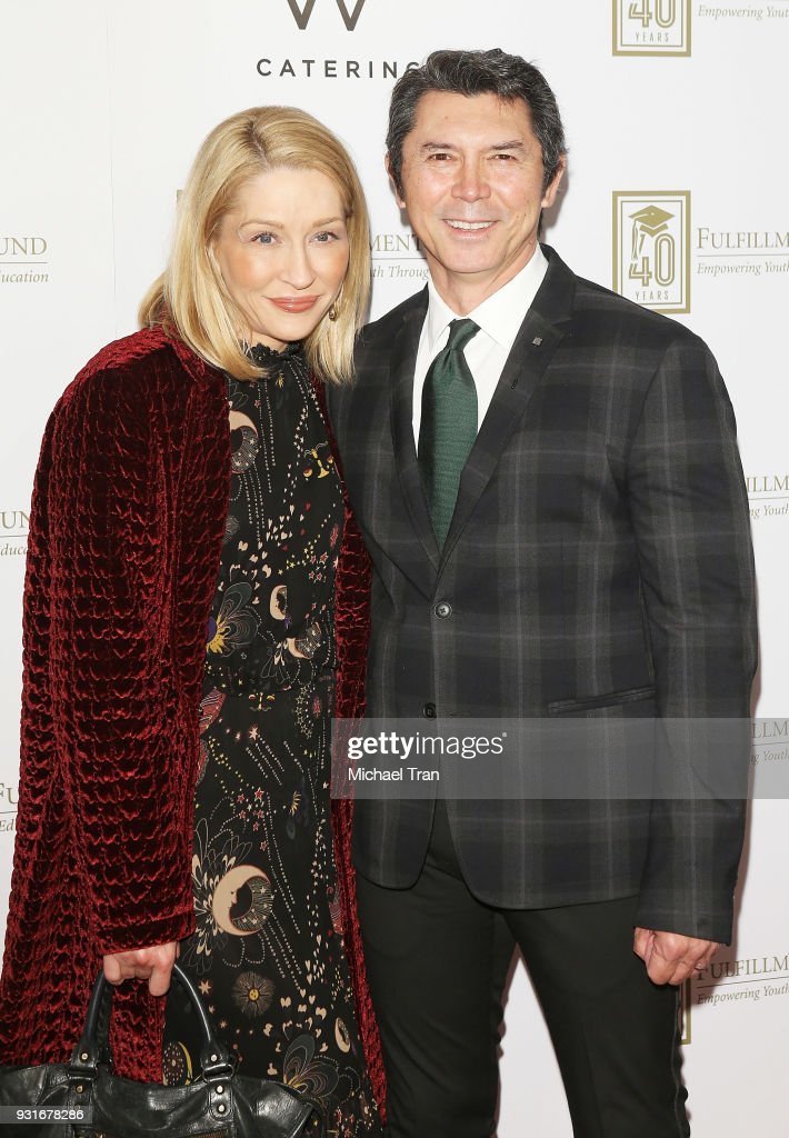 Lou Diamond Phillips and Yvonne Boismier Phillips attend A Legacy of Changing Lives presented by The Fulfillment Fund held at The Ray Dolby Ballroom at Hollywood & Highland Center on March 13, 2018 in Hollywood, California.