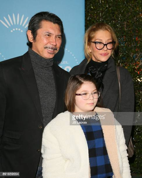 Lou Diamond Phillips and Yvonne Boismier Phillips attend Cirque du Soleil presents the Los Angeles premiere event of 'Luzia' at Dodger Stadium on...