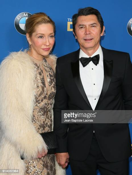 Lou Diamond Phillips and Yvonne Boismier Phillips attend the 70th Annual Directors Guild Of America Awards at The Beverly Hilton Hotel on February 3...