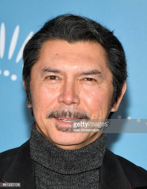 Lou Diamond Phillips attends Cirque du Soleil presents the Los Angeles premiere event of 'Luzia' at Dodger Stadium on December 12 2017 in Los Angeles...