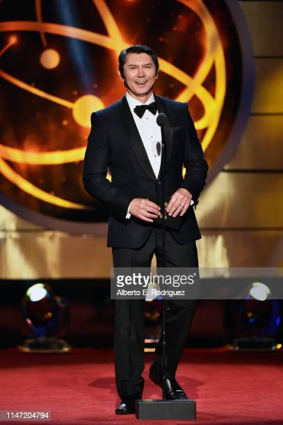 Lou Diamond Phillips speaks onstage at the 46th annual Daytime Emmy Awards at Pasadena Civic Center on May 05 2019 in Pasadena California