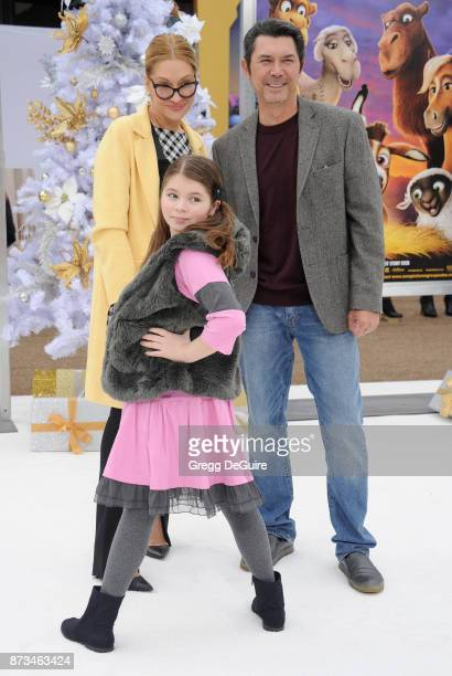 Lou Diamond Phillips Yvonne Boismier Phillips and Indigo Sanara Phillips arrive at the premiere of Columbia Pictures' The Star at Regency Village...