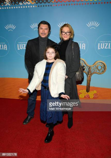 Lou Diamond Phillips Yvonne Boismier Phillips and Indigo Sanara Phillips attends Cirque du Soleil presents the Los Angeles premiere event of Luzia at...