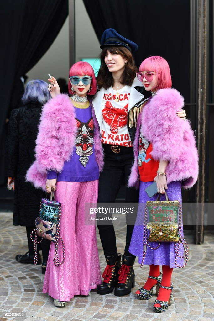 Gucci - Outside Arrivals - Milan Fashion Week Fall/Winter 2018/19 : Nachrichtenfoto