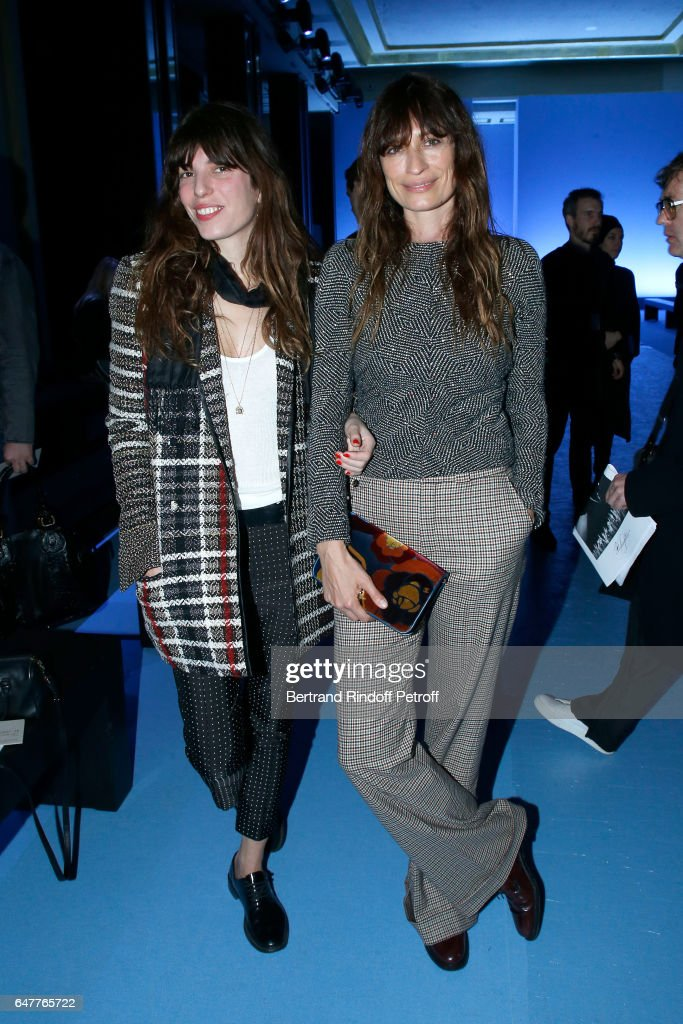 Lou Doillon and Caroline de Maigret attend the Haider Ackermann show as part of the Paris Fashion Week Womenswear Fall/Winter 2017/2018 on March 4, 2017 in Paris, France.