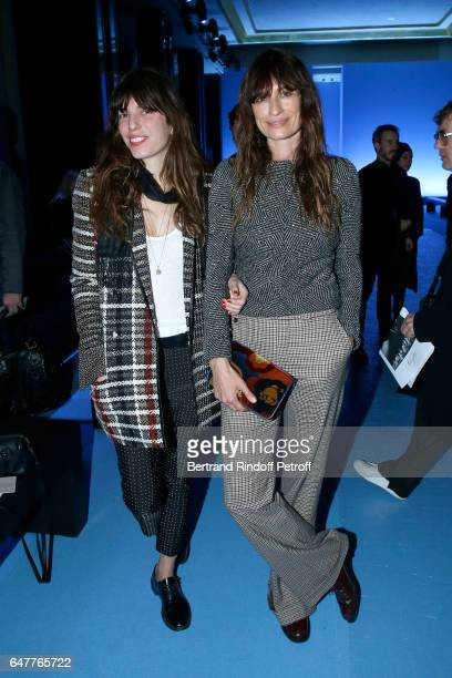 Lou Doillon and Caroline de Maigret attend the Haider Ackermann show as part of the Paris Fashion Week Womenswear Fall/Winter 2017/2018 on March 4...