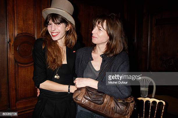 Lou Doillon and Kate Barry attends the Lou Doillon Party for Lee Cooper in Paris during the Fall/Winter 20082009 readytowear collection show on March...