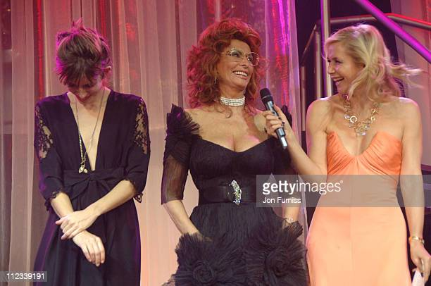 Lou Doillon and Sophia Loren and Tanya Bryer during 2007 Pirelli Calendar Launch Cocktail Reception and Gala Dinner at Battersea Evolution in London...