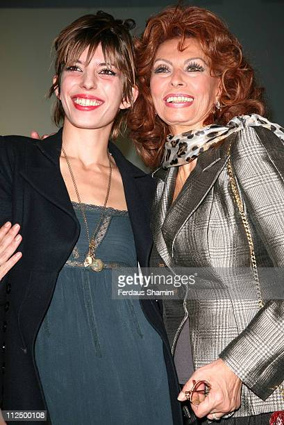 Lou Doillon and Sophia Loren during 2007 Pirelli Calendar News Conference and Photocall at Hilton in London Great Britain