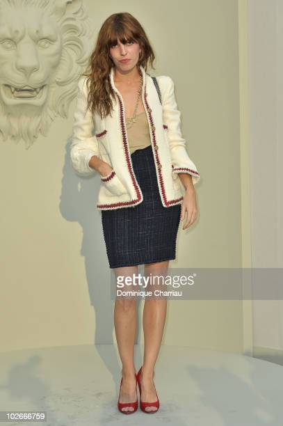 Lou Doillon arrives at the Chanel show as part of the Paris Haute Couture Fashion Week Fall/Winter 2011 at Grand Palais on July 6 2010 in Paris France