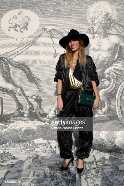 Lou Doillon arrives at the Gucci show during Milan Fashion Week Autumn/Winter 2019/20 on February 20 2019 in Milan Italy