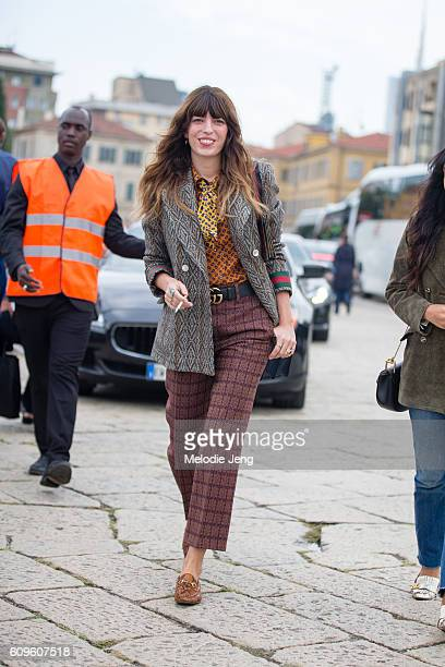 Lou Doillon at the Gucci show Milan Fashion Week Spring/Summer 2017 on September 21 2016 in Milan Italy