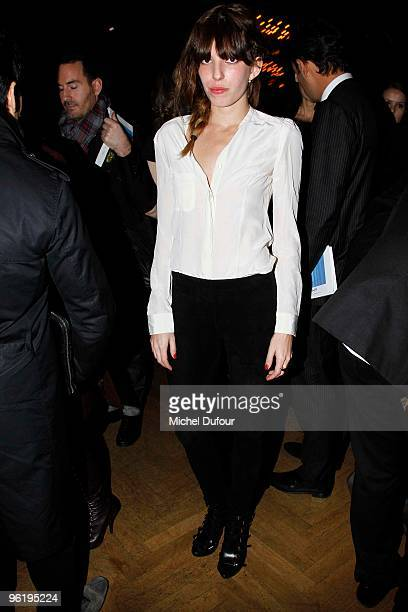 Lou Doillon attends Givenchy Fashion Show during Paris Fashion Week Haute Couture S/S 2010 on January 26 2010 in Paris France