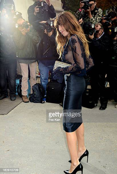 Lou Doillon attends the Chanel show as part of the Paris Fashion Week Womenswear Spring/Summer 2014 at the Grand Palais on October 1 2013 in Paris...