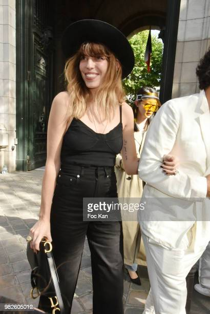 Lou Doillon attends the Dior Homme Menswear Spring/Summer 2019 show as part of Paris Fashion Week on June 23 2018 in Paris France