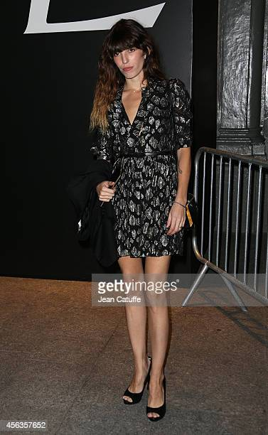 Lou Doillon attends the Saint Laurent fashion show at the Carreau du Temple as part of the Paris Fashion Week Womenswear Spring/Summer 2015 on...