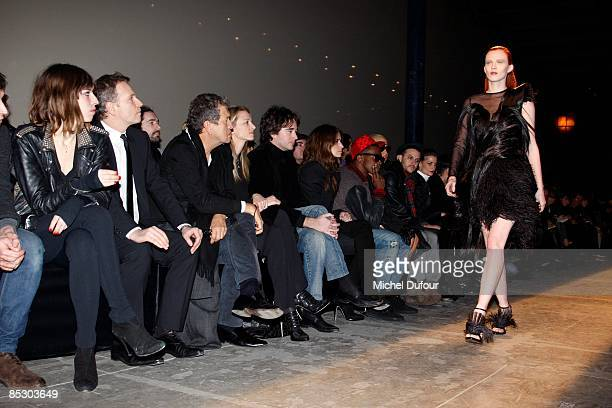 Lou Doillon guest Mario Testino Delphine Arnault Antoine Arnault Joana Preiss Kaye West Amber Rose and Casey Spooner attends at the Givenchy...