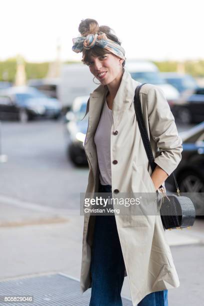 Lou Doillon outside Miu Miu Cruise Collection during Paris Fashion Week Haute Couture Fall/Winter 20172018 Day One on July 2 2017 in Paris France