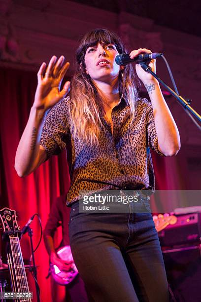Lou Doillon performs at Bush Hall on April 27 2016 in London England