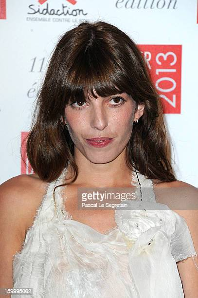 Lou Doillon poses as she arrives to attend the Sidaction Gala Dinner 2013 at Pavillon d'Armenonville on January 24 2013 in Paris France