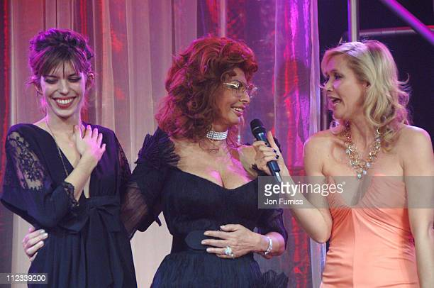 Lou Doillon Sophia Loren and Tanya Bryer during 2007 Pirelli Calendar Launch Cocktail Reception and Gala Dinner at Battersea Evolution in London...