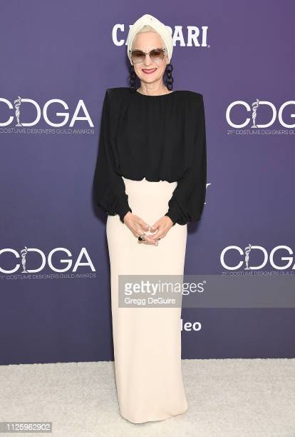Lou Eyrich arrives at the 21st CDGA at The Beverly Hilton Hotel on February 19 2019 in Beverly Hills California